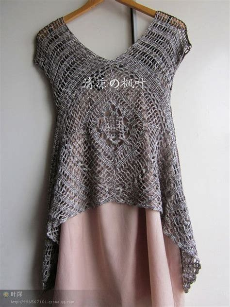 free pattern jersey top crochet tunic has chart shrugalicious light layers