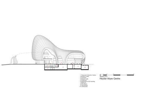 zaha hadid section gallery of heydar aliyev center zaha hadid architects 51