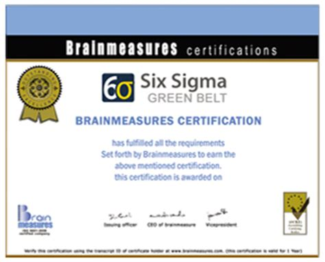 green belt certificate template six sigma green belt certification six sigma