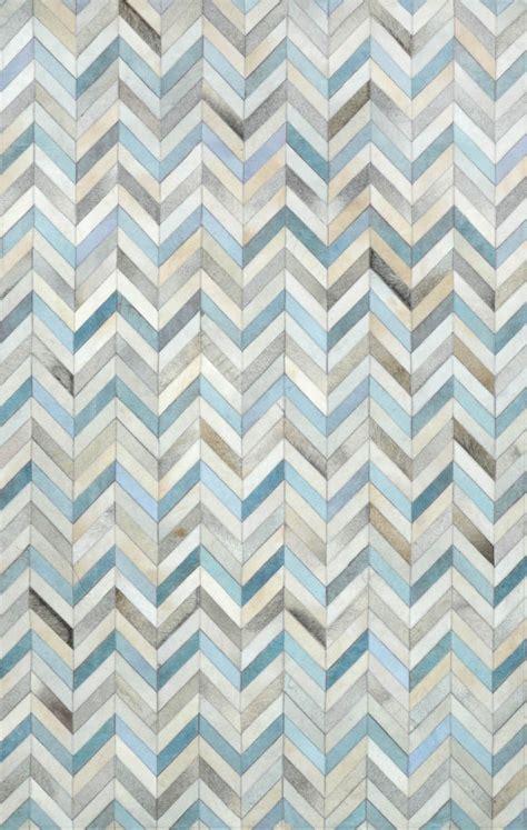 cowhide pattern rug neutral touch of blue herringbone cowhide rug rugs