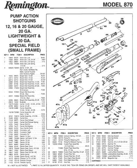 remington 870 diagram longhunt schematics remington 870