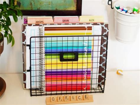 10 Home Office Hacks To Get You Organized Now Hgtv Home Office Filing Ideas