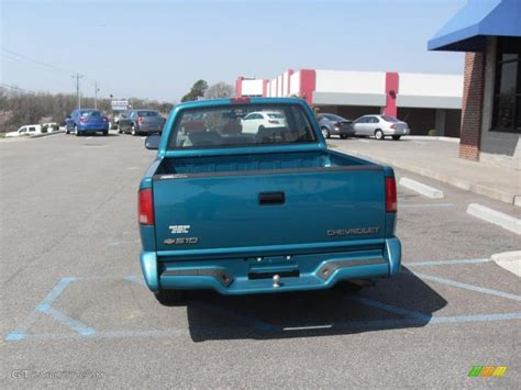 Bright Ls by 1996 Bright Teal Metallic Chevrolet S10 Ls Extended Cab