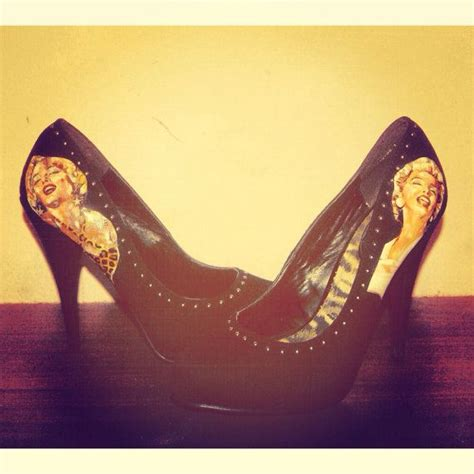 Decoupage High Heels - black studded decoupage marilyn high heels size uk 6