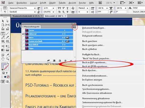 tutorial indesign buch erstellen indesign buchfunktion indesign buch erstellen indesign