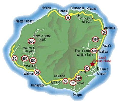 kauai resort map kauai palms hotel