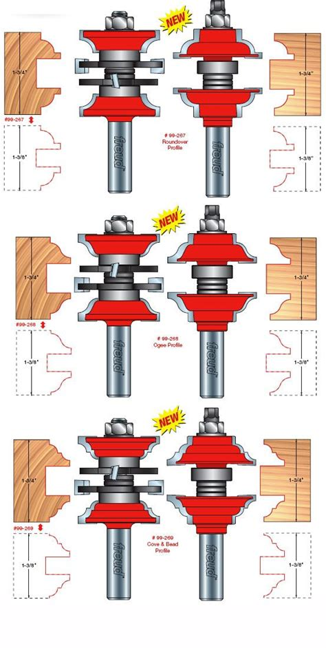 freud woodworking freud tools two entry interior door router bit