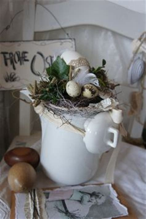 etagere ostern osterdeko etagere hase eier wei 223 rost shabby vintage