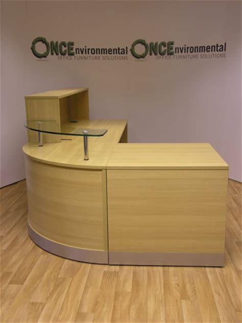 light oak reception desk used desks light oak walnut or beech reception desk 2400