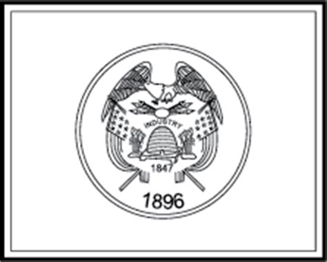 State Flag Coloring Pages Utah State Flag Coloring Page