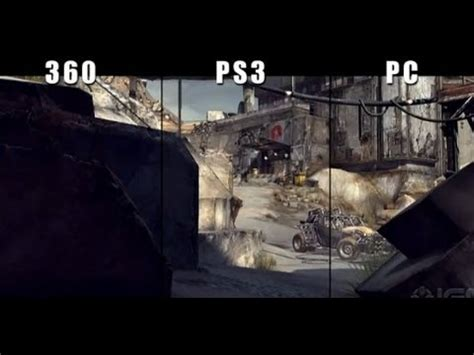 top ps3 graphics vs xbox360 rage xbox 360 vs ps3 vs pc graphics