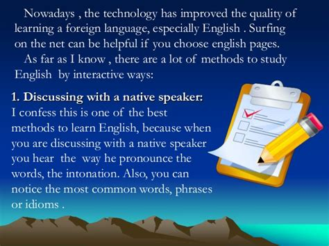 the best way for the studying of english language the best methods to study english