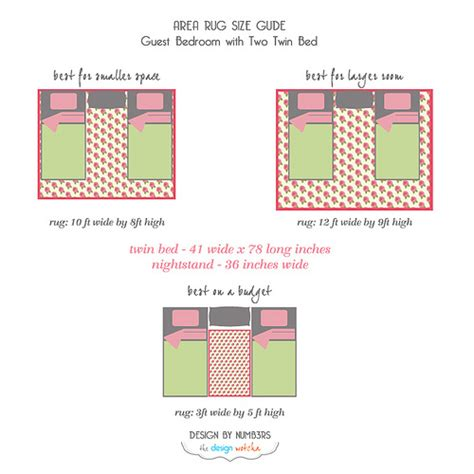 area rug layout area rug size guide guest bedroom two bed flickr photo