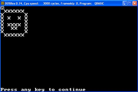 Qbasic Drawing by Ascii Print A Smiley Programming Puzzles