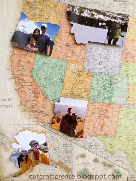 us map states i ve been to cut craft create personalized photo map for our paper