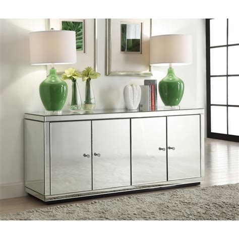 mirrored sideboard or buffet unit