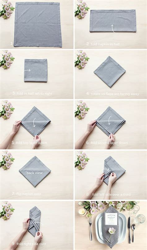 How To Do Napkin Origami - 25 best ideas about wedding napkin folding on