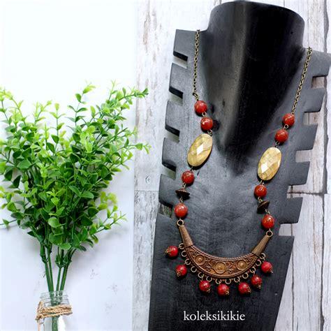 Kalung Merah kalung batu borneo merah koleksikikie