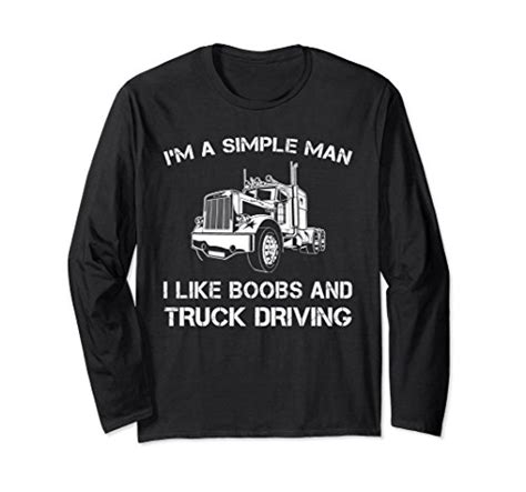 T Shirt Europe Truck Abu Abu unisex i m a simple i like and truck driving t