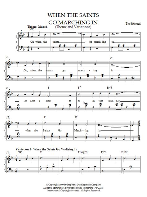 skye boat song french version lyrics when the saints go marching in theme and variations