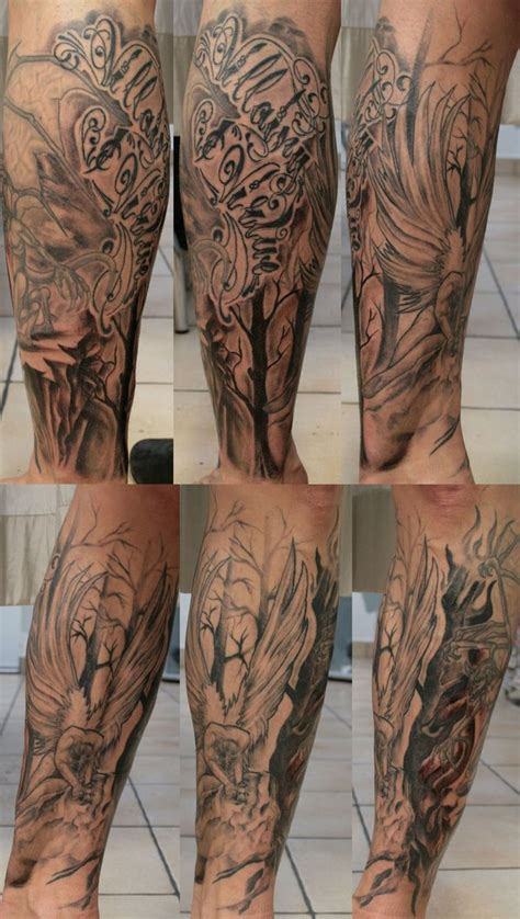 half leg sleeve tattoo images by kristine dougherty amorphoto