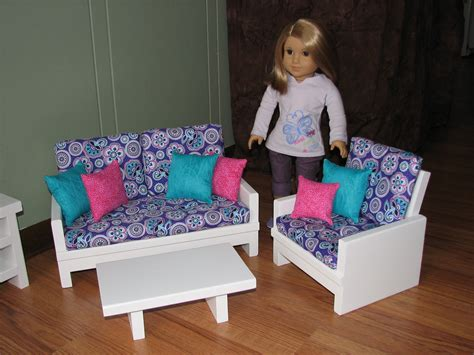 american girl doll couch 18 inch doll furniture set for american girl by