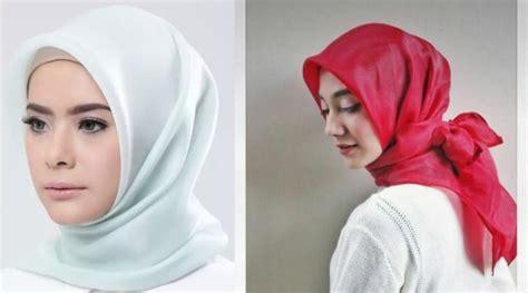 Kerudung Organza Segiempat Organza Kain Kaca Organza Kaca ini lho organza berbahan mirip kaca mengilap yang lagi ngetren di kalangan hijaber