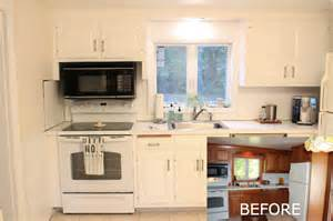 Painted Black Kitchen Cabinets Before And After Before And After Painted Kitchens