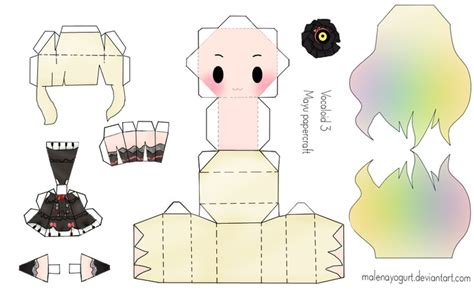 Papercraft Doll - vocaloid 3 mayu papercraft by malenayogurt on