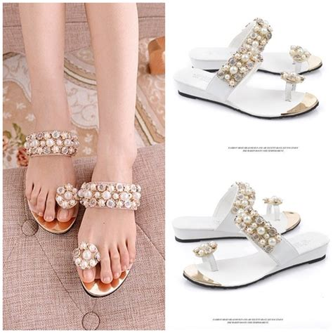Sendal Wanita Fashionable Aphrodite White Sandals jual shs516 white sendal elegan import grosirimpor