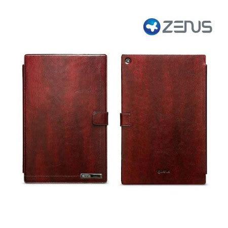 Zenus Neo Classic Diary Tablet Xperia Z Xperia Z1 Xperia Z2 zenus neo classic sony tablet xperia z wine