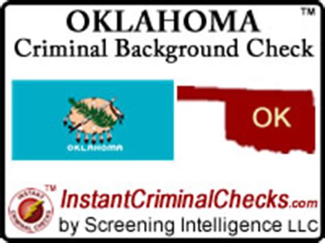 Oklahoma Background Check Oklahoma Criminal Background Checks For Pre Employment