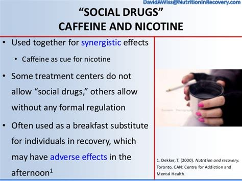 Detox From Caffeine And Nicotine by Nutrition Interventions In Addiction Recovery The Of