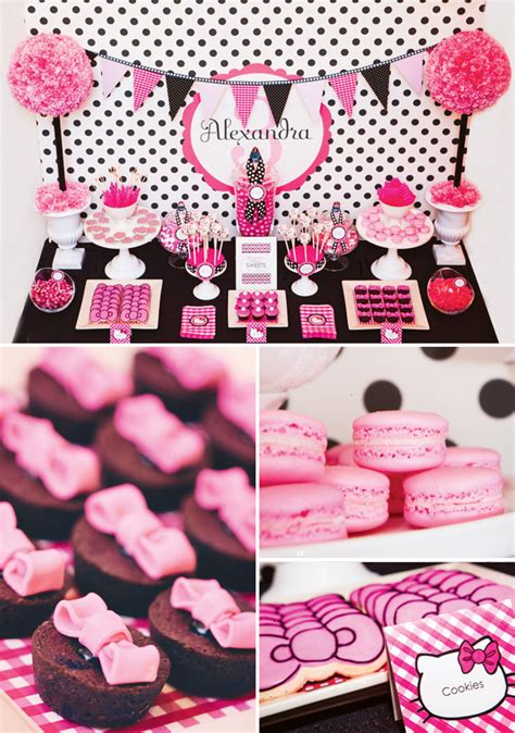 hello kitty themed birthday party ideas hello kitty party perfect for a sweet 16 b lovely events