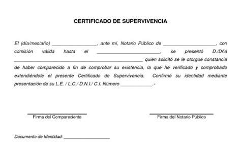 certificado de supervivencia en argentina gu 237 a de tr 225 mites berazategui