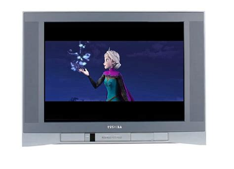 frozen playing  silver toshiba tv  espioartwork