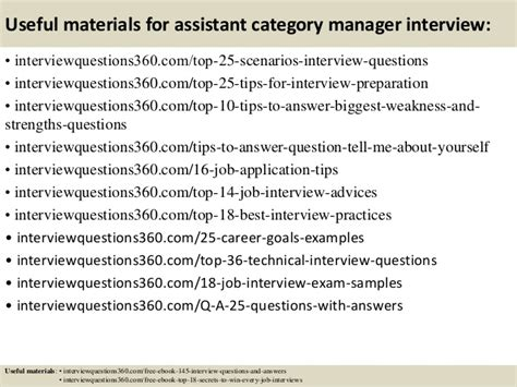 top 10 assistant category manager questions and
