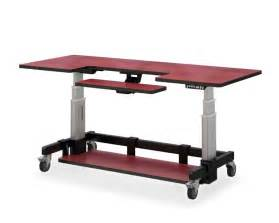 rolling standing desk rolling computer desk table adjustable height afcindustries