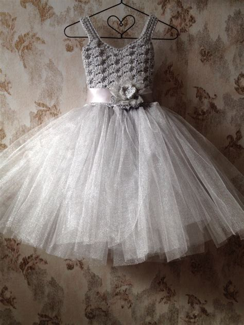 pattern for flower girl tutu dress gray flower girl tutu dress flower girl tutu dress crochet