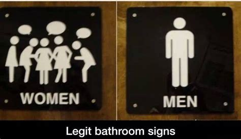 restroom vs bathroom funny bathroom signs men women memes