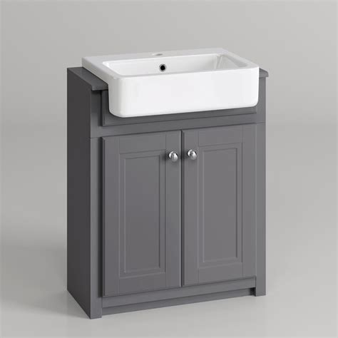 grey bathroom sink unit 667mm cambridge midnight grey floorstanding basin vanity