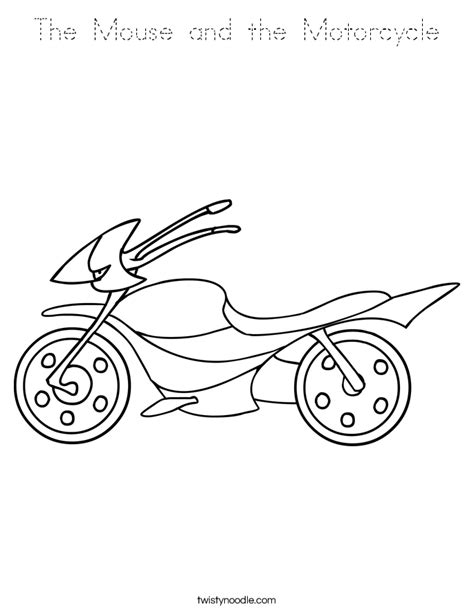 coloring page for the mouse and the motorcycle mouse and the motorcycle coloring sheet kids coloring