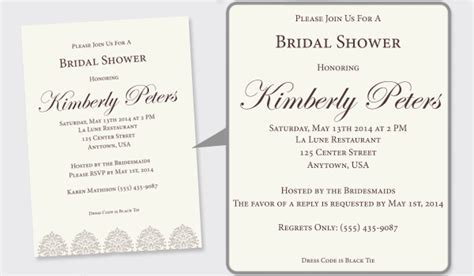 Wedding Shower Announcement Wording by 5 Tips For Designing Wedding Shower Invitations