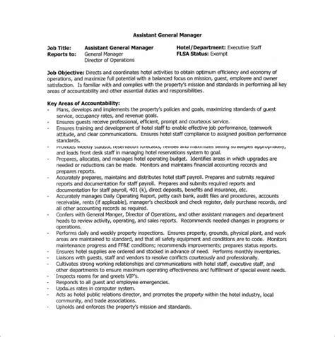 11 general manager description templates free