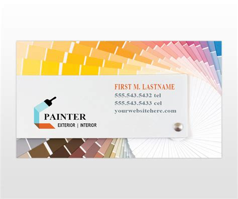 construction business card templates painting contractor business cards mafiamedia