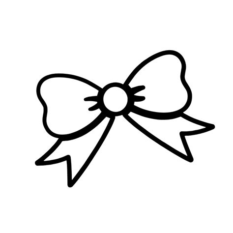 girl bow coloring page cute girl bow outline vinyl sticker car decal