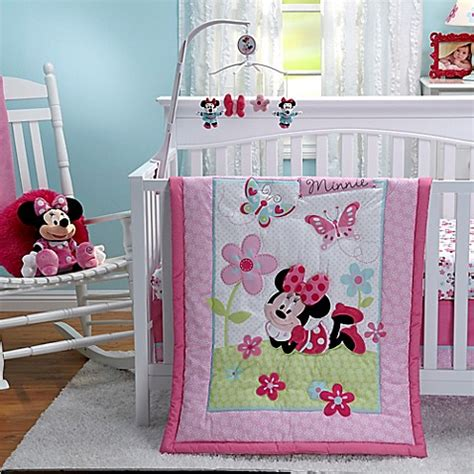 Minnie Crib Bedding Set Disney 174 Minnie S Garden Crib Bedding Collection Buybuy Baby