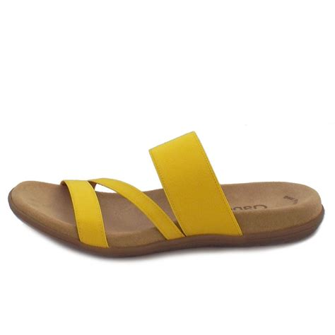 yellow sandal gabor sandals tomcat slip on sandals in yellow