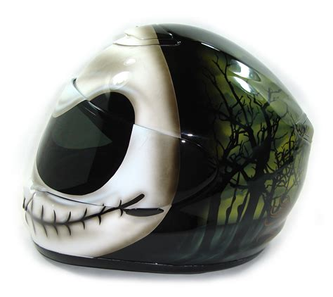 Handmade Motorcycle Helmets - custom painted helmet gallery skellington nightmare