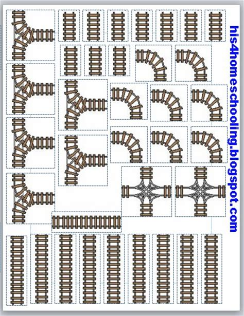 printable railroad tracks h is for homeschooling travel train table in a file folder